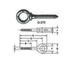 Screw Thread Eye Bolt by Delta Fastener